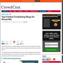 Top 9 Online Fundraising Blogs for Nonprofits
