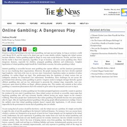 Online Gambling: A Dangerous Play