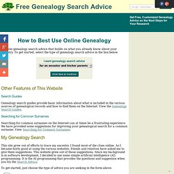 Free Genealogy Search Advice