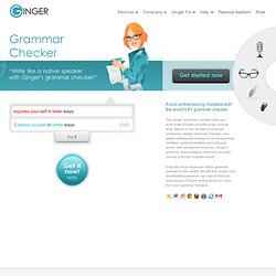 Online Grammar Check & Spell Check | Ginger Software