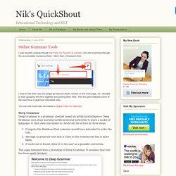 Nik's QuickShout: Online Grammar Tools