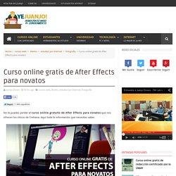 Curso online gratis de After Effects para novatos