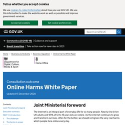 Online Harms White Paper (2019)