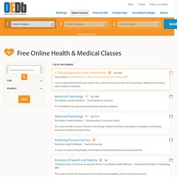 784 Free Online Health & Medical Courses