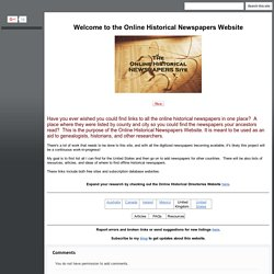 Online Historical Newspapers