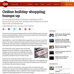 Online holiday shopping bumps up
