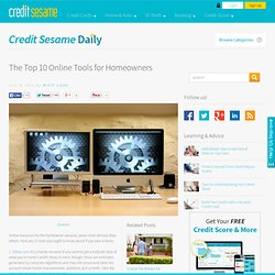 The Top 10 Online Tools for Homeowners at Save Money with Credit Sesame