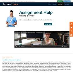 Online Homework Help, Help with Homework,Online Homework Assistance