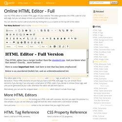 Online HTML Editor - Full