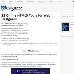 22 Online HTML5 Tools for Web Designers