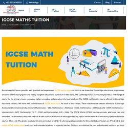 IGCSE Maths Tuition - Baccalaureate Classes