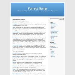 Online Information « Forrest Gump