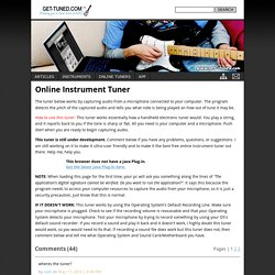 Online Instrument Tuner - Get-Tuned.com
