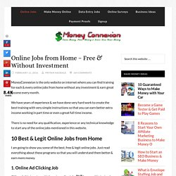 Online Jobs from Home - All Free, Easy & Without Investment