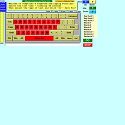 Free online keyboard game and typing tutor