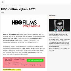 HBO online kijken vanuit Nederland
