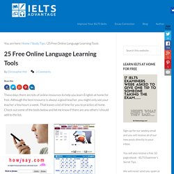 25 Free Online Language Learning Tools