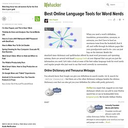 Language: Best Online Language Tools for Word Nerds