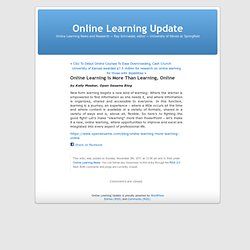 Online Learning is More Than Learning, Online
