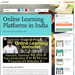 Online Learning Platforms in India