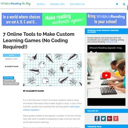 7 Online Tools to Make Custom Learning Games (No Coding Required!)