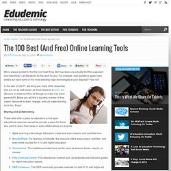 The 100 Best (And Free) Online Learning Tools