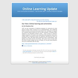 Our View: Online learning and universities