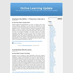 Online Learning Update