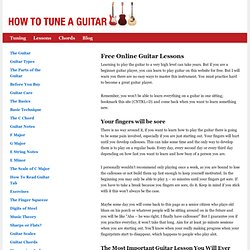 Easy Online Guitar Lessons for Beginners and much more