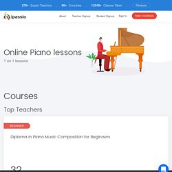 8 Best Online Piano Lessons, Courses: Learn Piano Online at ipassio