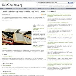 Online Libraries - 25 Places to Read Free Books Online | Educhoi