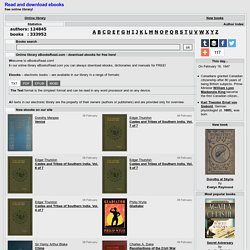 Online Library - download and read ebooks for free