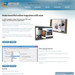 online magazine maker - ePageCreator