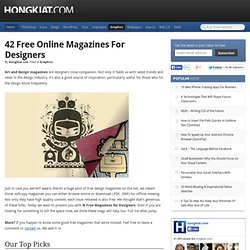 42 Free Online Magazines for Designers