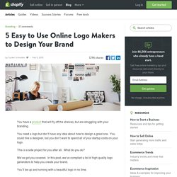 5 Online Logo Makers to Design Your Brand