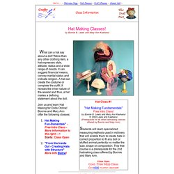 Online Doll Hat Making Classes - Cloth Dolls - Free Intro Class!