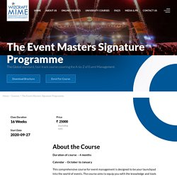 Best Online Event Management Courses in Mumbai, India after 12th