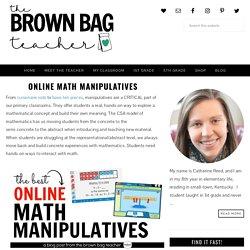 Online Math Manipulatives - The Brown Bag Teacher