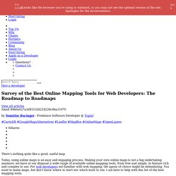 Best Online Mapping Tools for Web Developers
