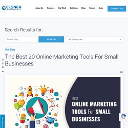 The Best 20 Online Marketing Tools For Small Businesses