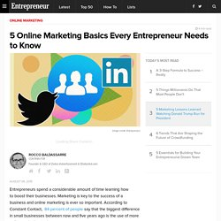 5 Online Marketing Basics Every Entrepreneur Needs to Know
