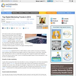 2014 and Online Marketing Future