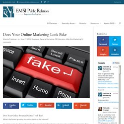 Does Your Online Marketing Look Fake