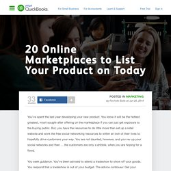 20 Online Marketplaces to List Your Product on Today