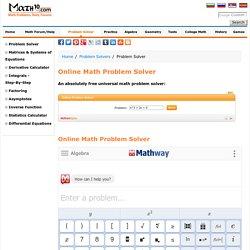 Online Math Problem Solver