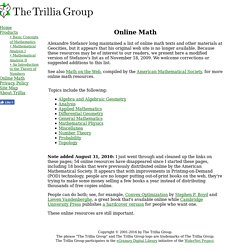 Online Math - The Trillia Group