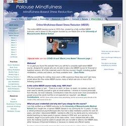 Online MBSR/Mindfulness (Free)