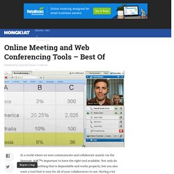 Top 18 Online Meeting and Web Conferencing Tools