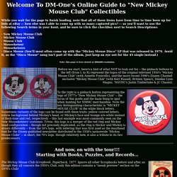 "DM-One's Online Guide to ""New Mickey Mouse Club"" Collectibles"