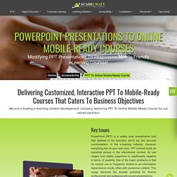 PPT To Online Mobile-Ready Courses Online